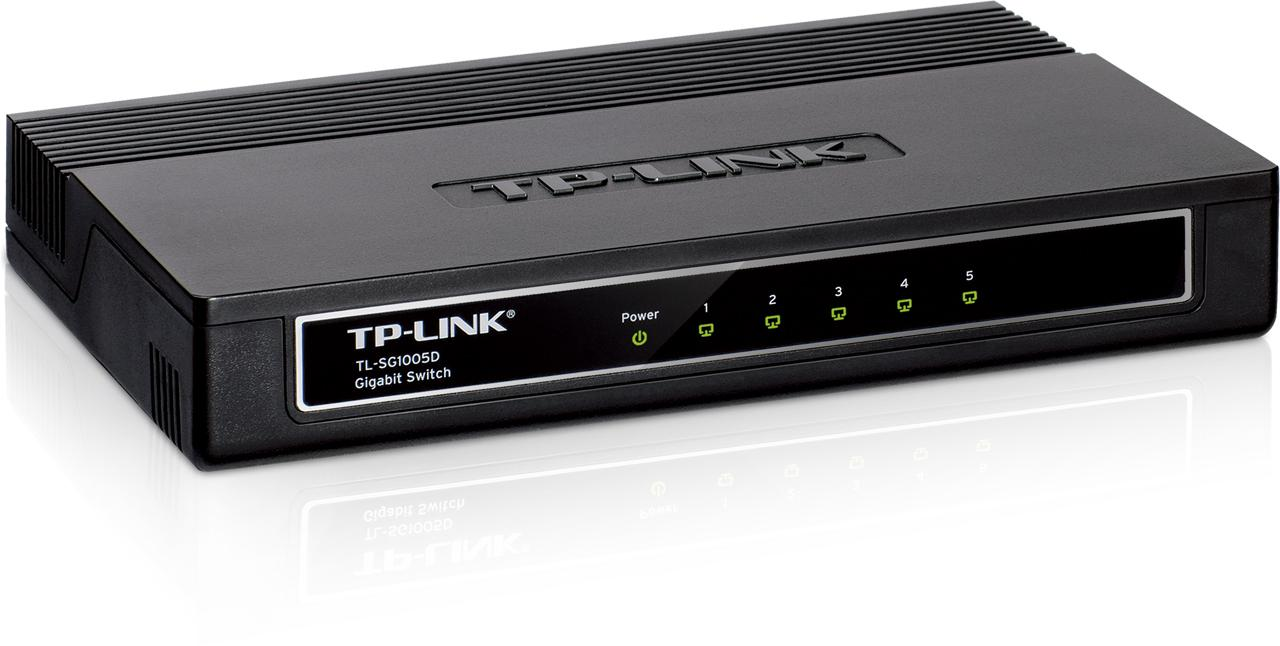 Switch de bureau Gigabit 5 ports TP-Link TL-SG1005 - Informatique