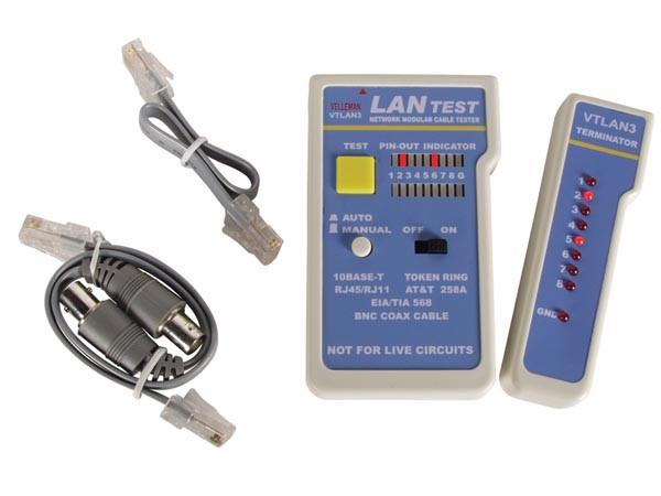 Testeur de cable vtlan3 velleman vtlan3 trois rivi res - Testeur de cable ...